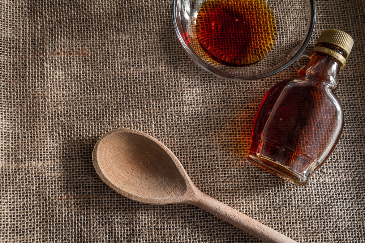 """Flickr / Creative Commons / Piviso """"Maple syrup in a glass bottle"""""""